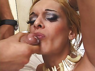 Gay man fucks shemale in her butt