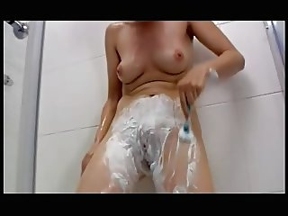 Cindy Read in the shower.