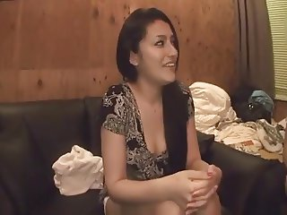 Latina Girl having a great time with two Japanese men!