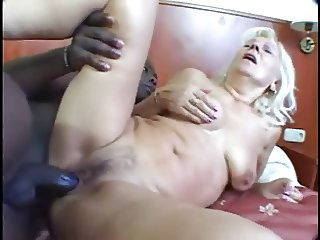 Granny gets young black cock
