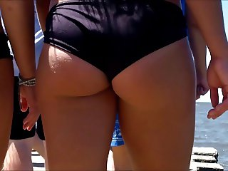 Candid Beach Bikini Butt Ass West Michigan Booty Epic Hairy
