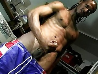Horny black ghetto wank is cool