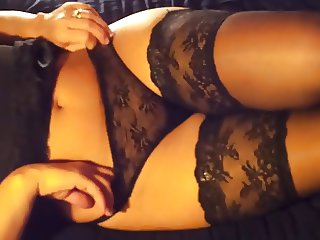 hot wife in lingerie with sexy ass
