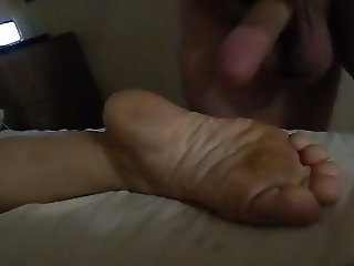 another foot cum.  size 5 feet