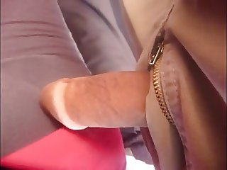 Dick touch at public bus