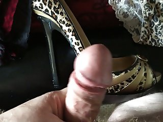 More Heels and panties spunked!