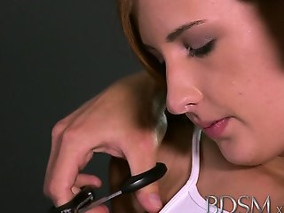 BDSM XXX Innocent sub gets shock of her life from Master