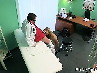 Small tits blonde fucking doctor in hospital