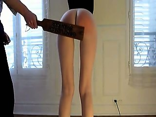 Teen with sexy ass gets spanking