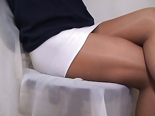 crossdresser pantyhose legs white 058