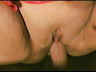 Closeup chubby pussy fuck with cum on clit