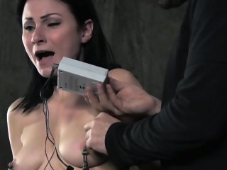 Nipple pumped bdsm sub whipped