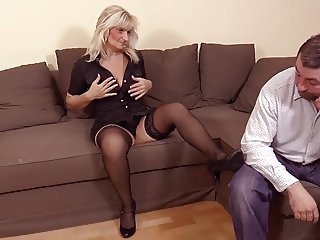 hot blonde granny in hot sex