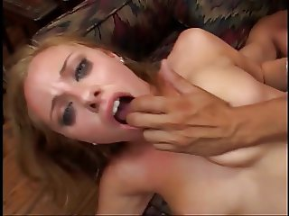 Hot blond nymph has cunt nailed