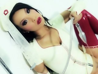 Super sexy asian nurse in the shower