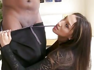 Vicki takes on a huge black cock BBC