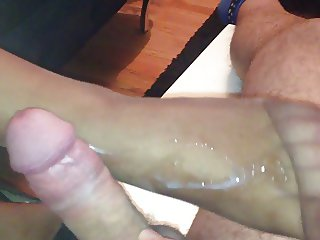 nylon footjob for husband friend