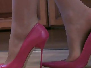 Pantyhose and High Heels with Gorgeous Legs