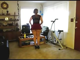 Phat Ass White Girl Changing Clothes