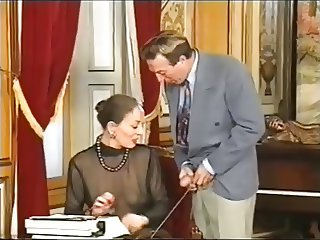 Old secretary fisted and anal fucked