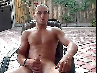 Naked on the Patio and Jacking Off