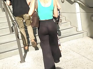 See thru- Amazing ass sheer pants thong