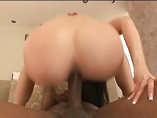 A black dick in her asshole