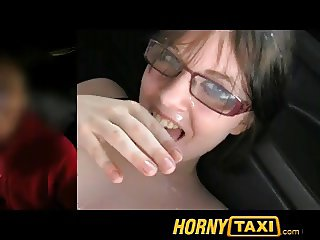 HornyTaxi Suck my balls girls and lick my arse hole