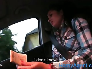 HornyAgent Tiny women fucked by a stranger in his car