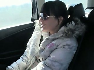 Amateur customer pussy fucked n jizzed on by the driver