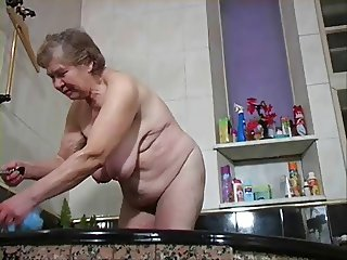 granny has a shower