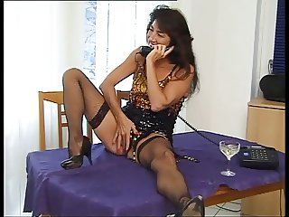 german mature Nina fucked in fishnets n heels