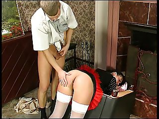 Funny maid anal creampie (Camaster)