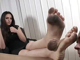 Serbian Boss dirty feet licked