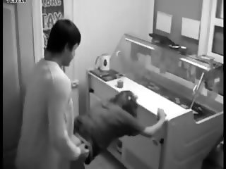 Candy Store Teen Couple caught Fucking on Security Cam