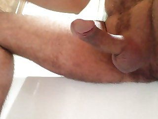 My cock left throbbing + dribbling after big cumshot!