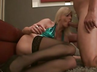 Wild anal sex ends with cream pie
