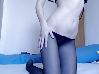 My Romanian Whore - Skype Pantyhose & finger masturbation