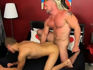 Gay jocks Blade is more than happy to share his lad sausage