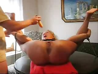 Using and fucking ass hole of my sub wife. Amateur extreme