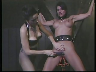 Her cunt filled with pussy clips