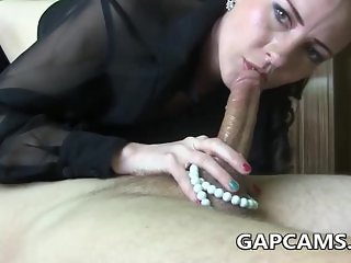 Sloppy Deepthroat With Pearls on webcam