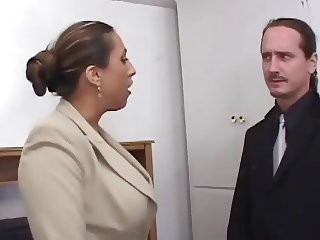 Nice MILF in Office