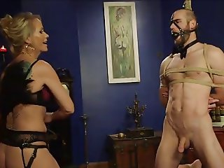 MILF strapon fuck slave in the ass prostate
