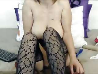 Milf fingers her ass while dildo fucks squirting pussy