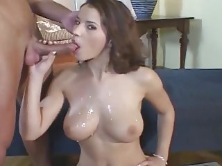 Angel Dark and Renato - Nice fuck ending in cum shower