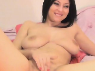 Busty Gorgeous Babe Fingering her Tight Pussy