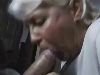 Wife sucking cock and cum in mouth
