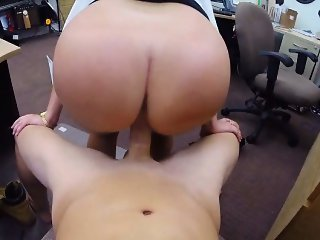 Sexy babe fucked by pawn man and payed a lot of money