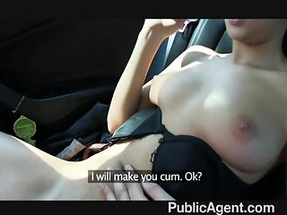 Short haired brunette backseat fucker